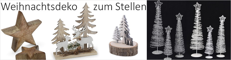 weihnachtsdeko zum stellen im online shop kaufen baumann creative. Black Bedroom Furniture Sets. Home Design Ideas