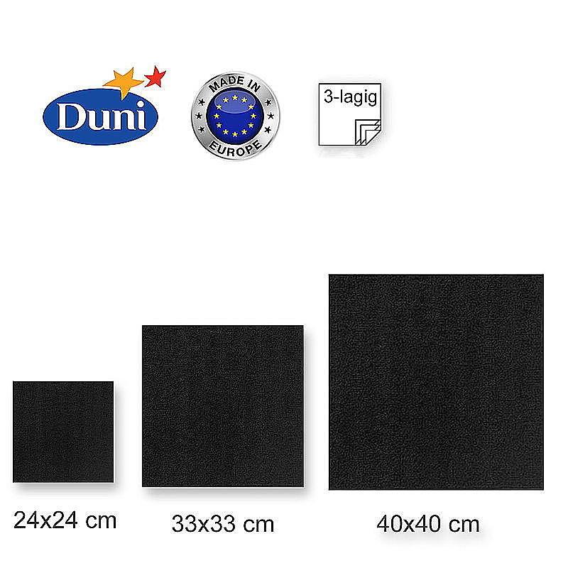 duni zelltuch servietten schwarz g nstig online bestellen. Black Bedroom Furniture Sets. Home Design Ideas