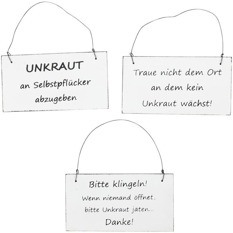Holz Schilder Mit Unkraut Spruch Sortiert Gunstig Online Bestellen