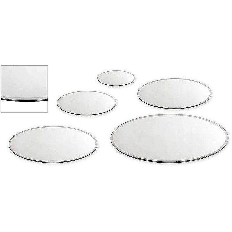 Spiegel Untersetzer Glas Unterlage Herz 16 x 15 cm mit Möbel Schoner