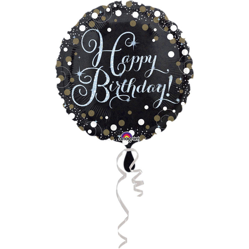 Standard Sparkling Birthday- Folienballon Happy Birthday, 43 cm