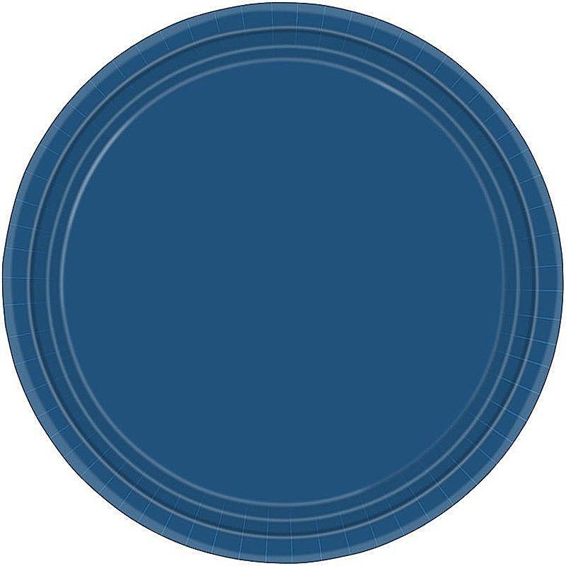 8 pappteller 23 cm navy blau g nstig online bestellen for Pappteller blau
