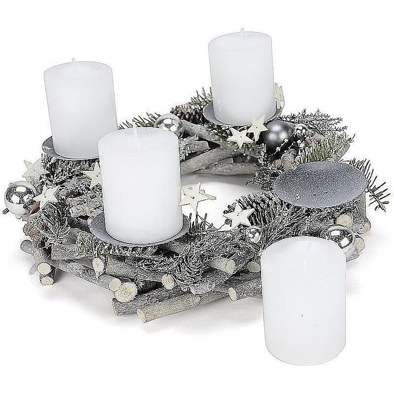 adventskranz grau gewaschen g nstig online bestellen. Black Bedroom Furniture Sets. Home Design Ideas
