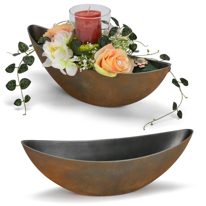 Hochwertige Pflanzgefäß Pflanztopf Ornament Tischdeko aus Harz für Blumen
