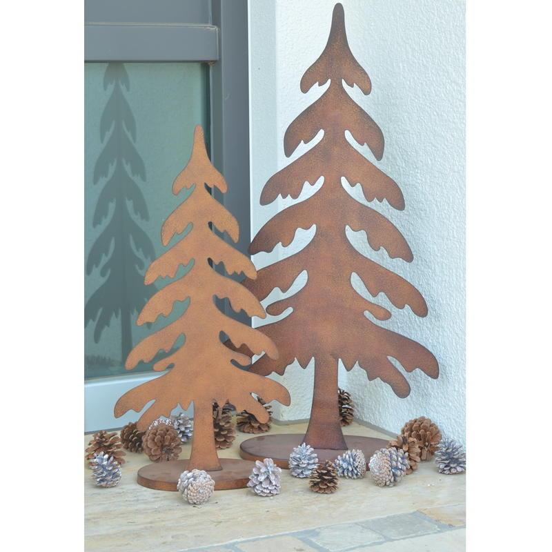dekoartikel rost tannenbaum aus metall g nstig online