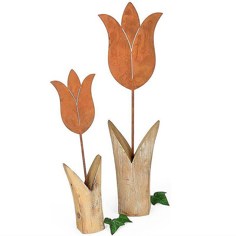 Dekoartikel Tulpe Rost Mit Holz Günstig Online Bestellen