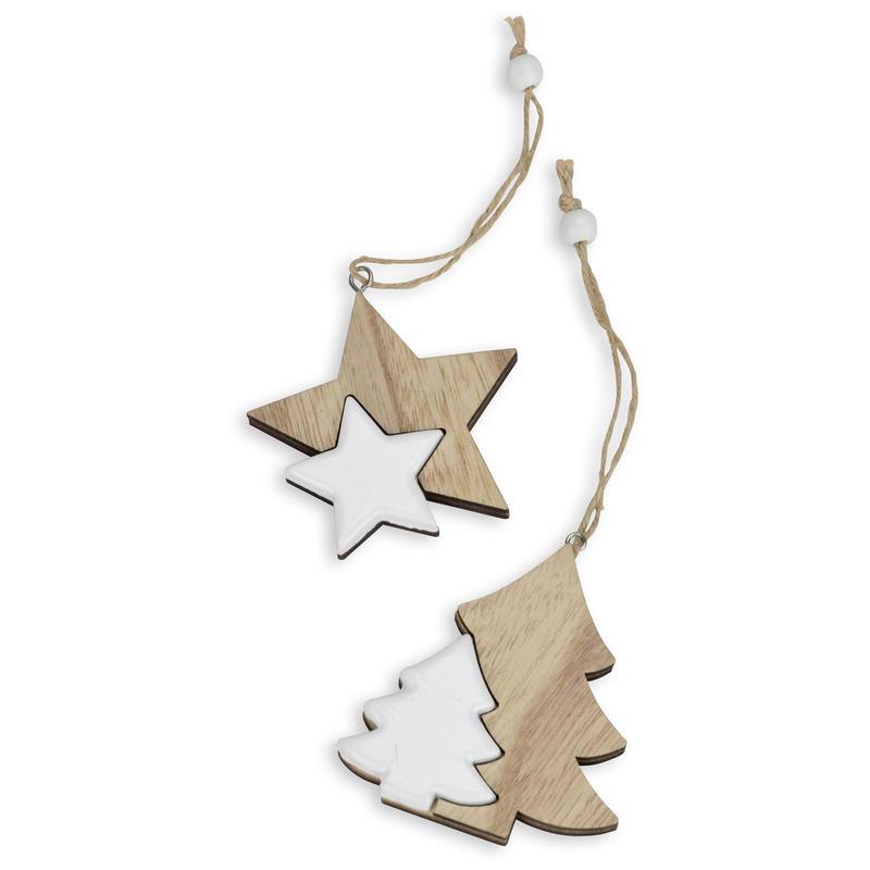 Weihnachtsdeko Günstig Bestellen.Dekohänger Stern Und Tanne Holzhänger Weihnachtsdeko