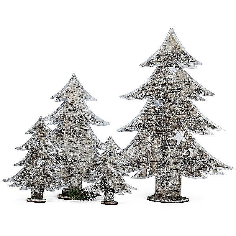 dekorativer tannenbaum mit metall und birkenrinde g nstig online bestellen. Black Bedroom Furniture Sets. Home Design Ideas