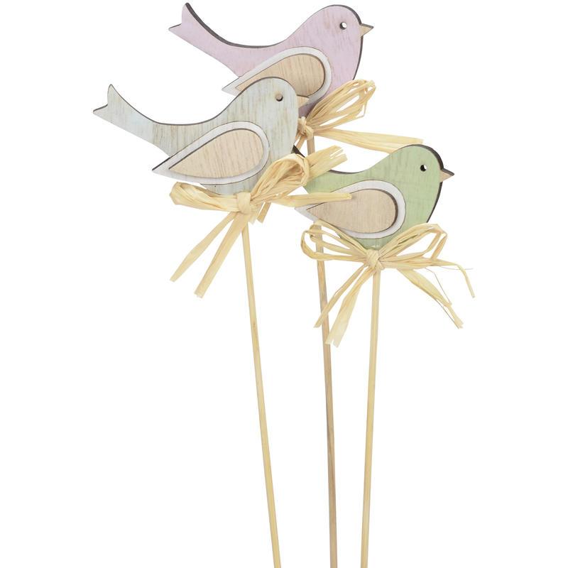 dekostecker vogel aus holz f r fr hlingsdeko g nstig online bestellen. Black Bedroom Furniture Sets. Home Design Ideas