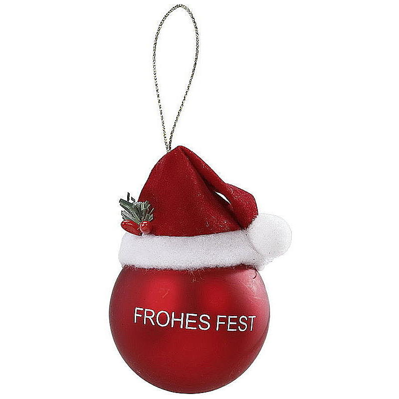 Glaskugel Frohes Fest Ø 5 cm