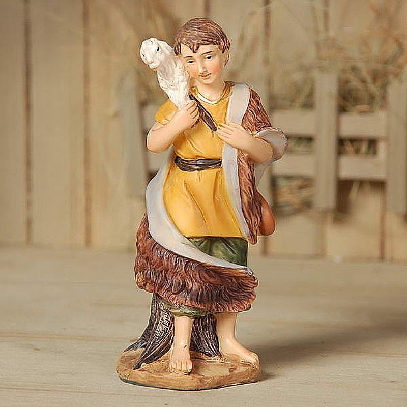 Krippen Markus Krippenfiguren Hirte mit Schaf in Größe ca.11cm