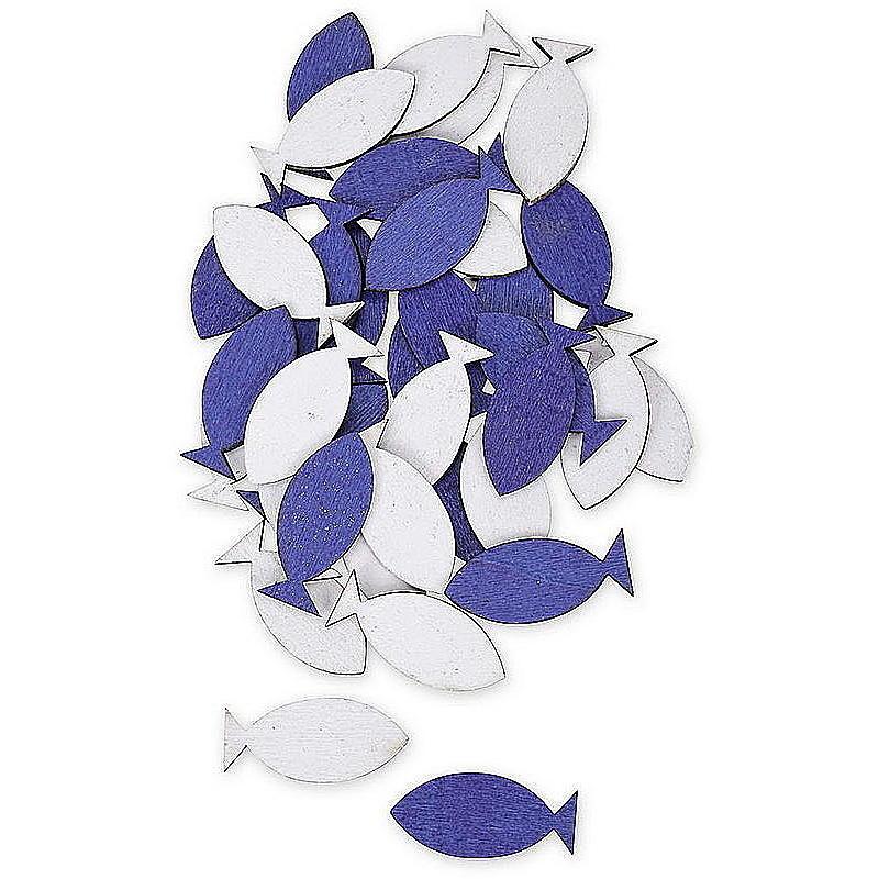 Holzfisch blau weiß günstig online bestellen