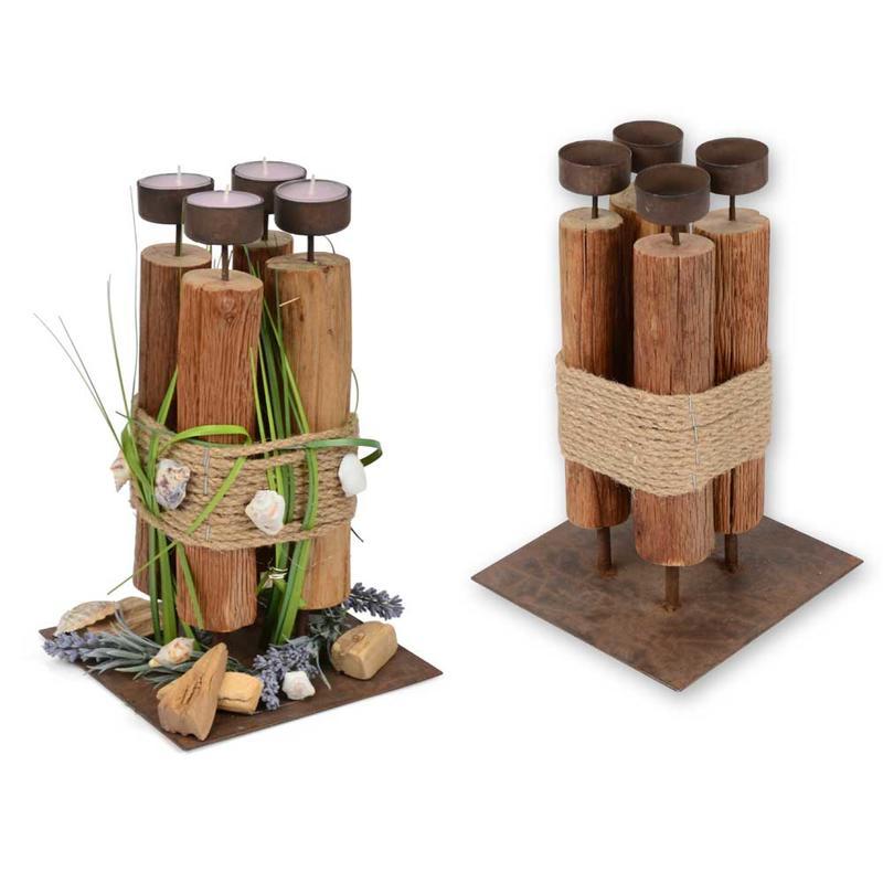 Kerzenhalter Holz Metall Quadratisch Günstig Online Bestellen