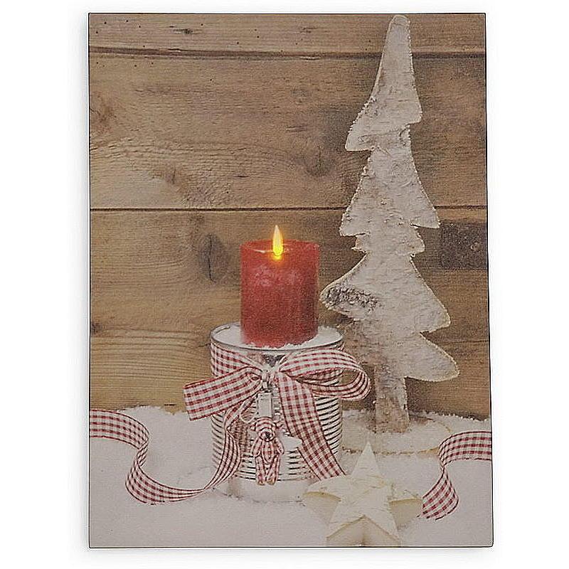 Led bild mit kerze und birkenbaum g nstig online bestellen for Birkenbaum deko