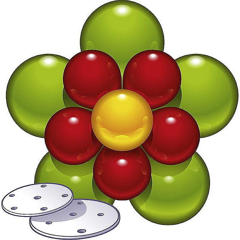 Luftballonblume deko set g nstig online bestellen for Pappgeschirr set