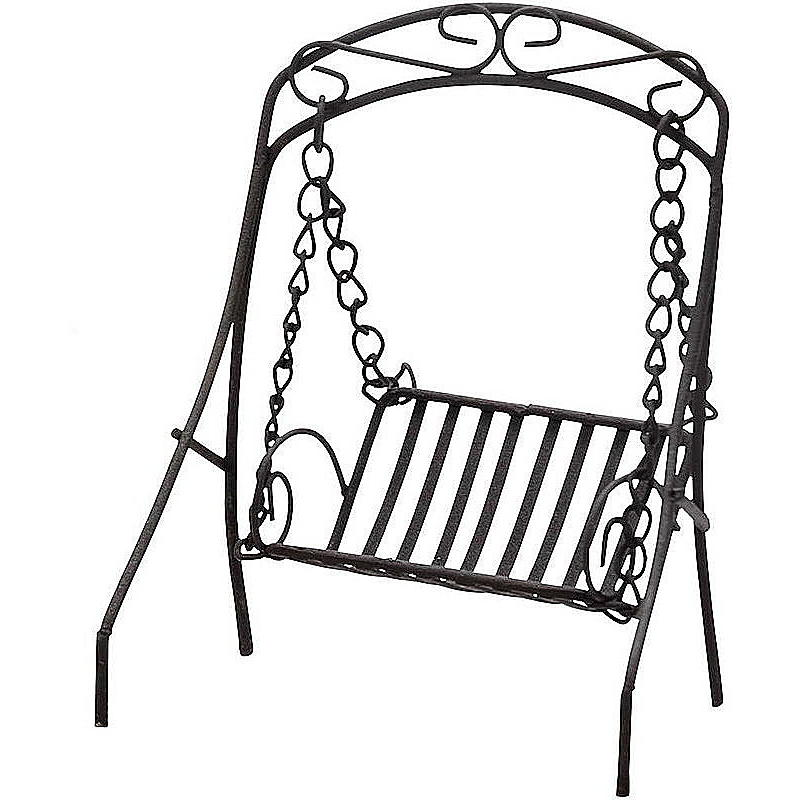 miniatur hollywoodschaukel metall braun g nstig online. Black Bedroom Furniture Sets. Home Design Ideas