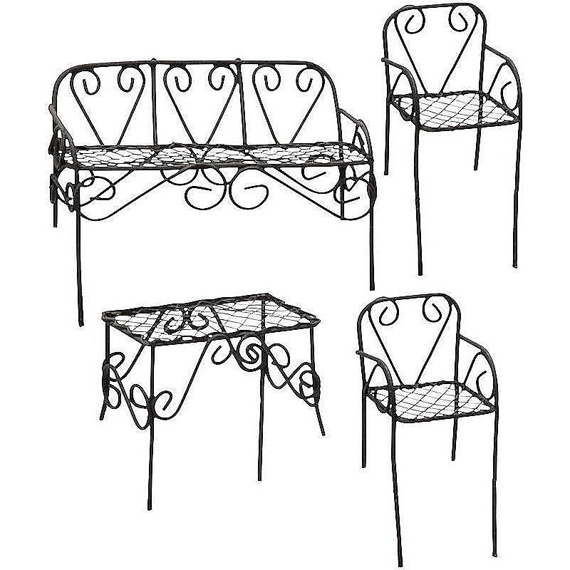 miniatur sitzgruppe metall braun g nstig online bestellen. Black Bedroom Furniture Sets. Home Design Ideas