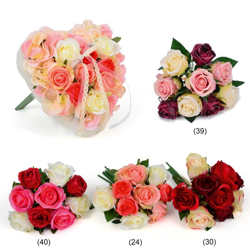 Rosenstrauß Real Touch Kunstblume Künstliche Rose Rose Blumenstrauß