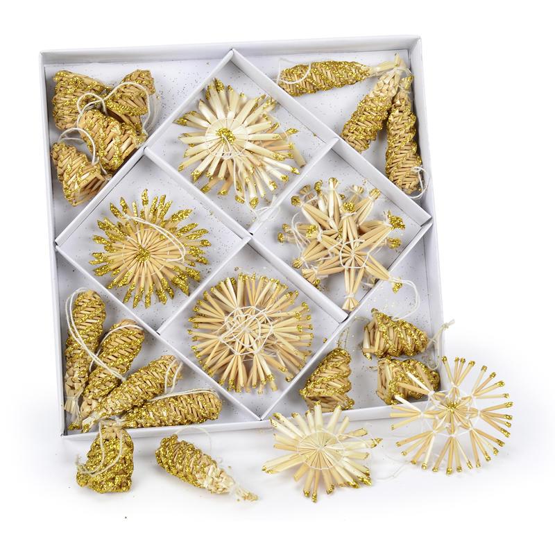 Weihnachtsdeko Gold.Strohstern Sortiment Natur Gold Weihnachtsdeko