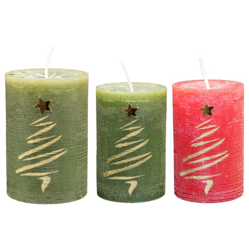 4 Stück Kugelkerzen glanz Rot Kerzen Weihnachten Dekoration Hochzeit günstig