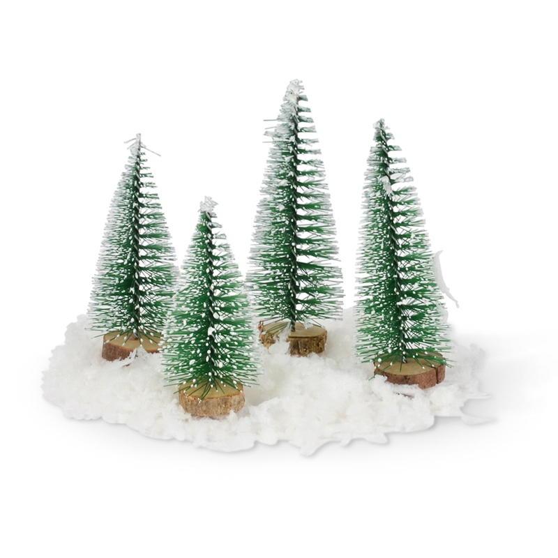 Tannenbaum Der Schneit.Tannenbaum Beschneit Höhe 6 Und 8 Cm Sortiert
