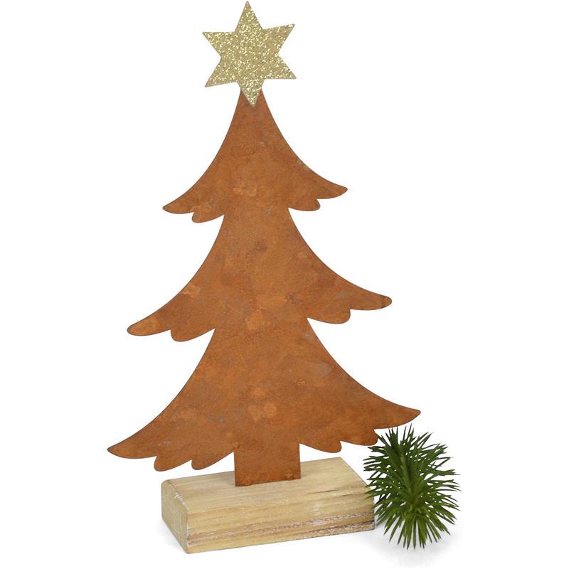 Weihnachtsdeko Günstig Bestellen.Tannenbaum Mit Glitzerstern Rost Weihnachtsdeko