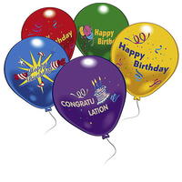 10 'Happy Birthday' Luftballons