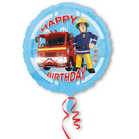 Folienballon Fireman Sam Happy Birthday