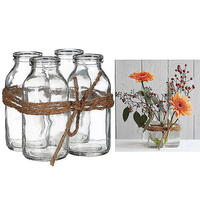 Glasflasche, 4er Set