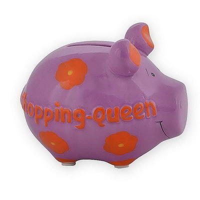 Keramik Sparschwein KCG 'Shopping-Queen'