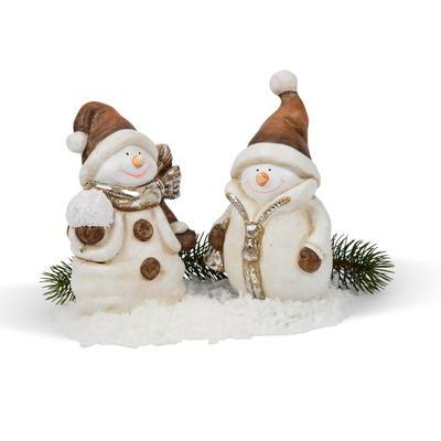 Weihnachtsdeko Aussen Schneemann.Weihnachtsfiguren Wichtel Aus Keramik Holz Und Kunststoff