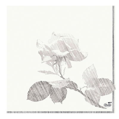 Zelltuch-Servietten Grey Rose