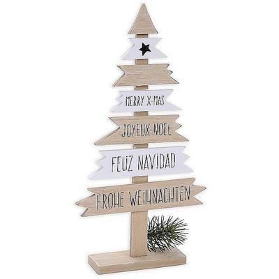 dekobaum holz 39 frohe weihnachten 39 g nstig online bestellen. Black Bedroom Furniture Sets. Home Design Ideas