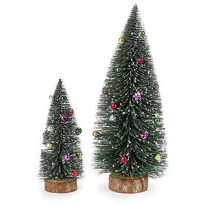Weihnachtsdeko Günstig Bestellen.Dekobaum Beschneit Mit Kugeln