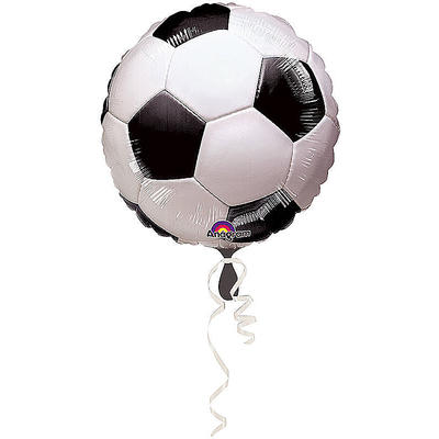 Fußball Folienballon rund, 43 cm, Ballon, Luftballon, Party Deko, Partydekorationen