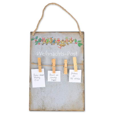 Memoboard Weihnachts-Post, Metall