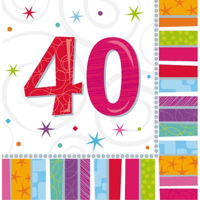 Tischdekoration 40 geburtstag party
